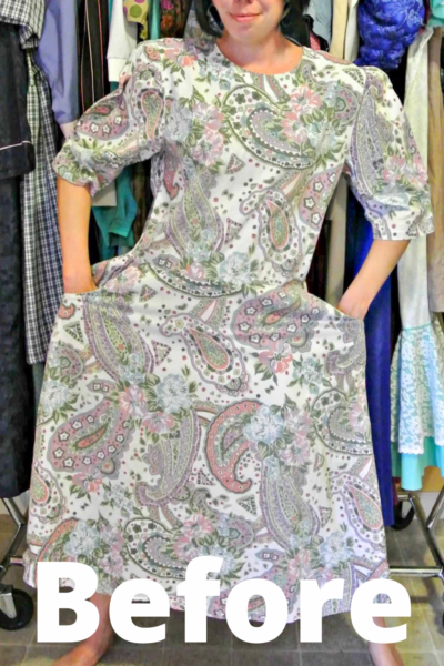 refashionista Basil Dress: Dyeing Over a Printed Fabric pin 1