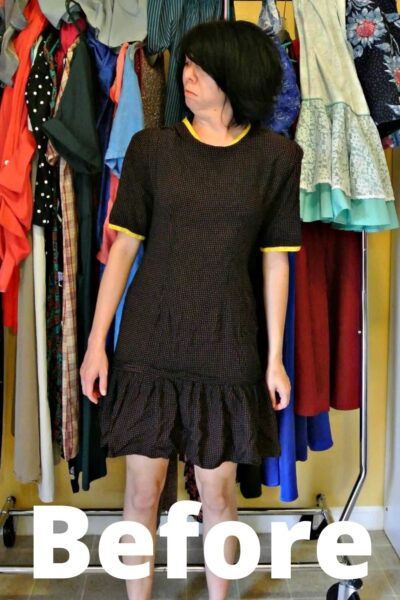 austin dress to top refashion pin 1
