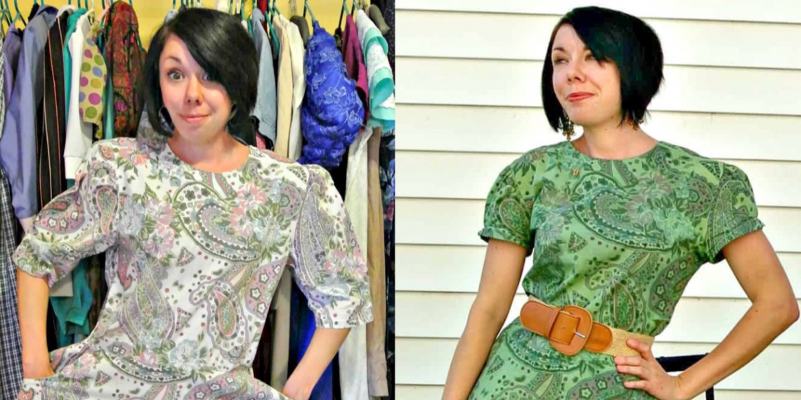 refashionista Basil Dress: Dyeing Over a Printed Fabric featured image
