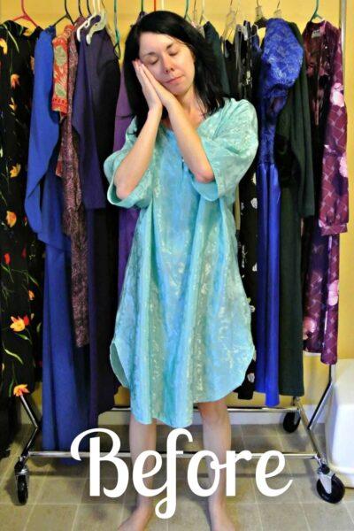 Unzipped: Nightgown to Zip Back Tank Top Refashion Pin 1