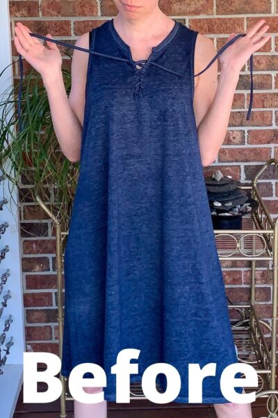 DIY Tunic Top from Sleeveless Jersey Midi Dress Pin 2