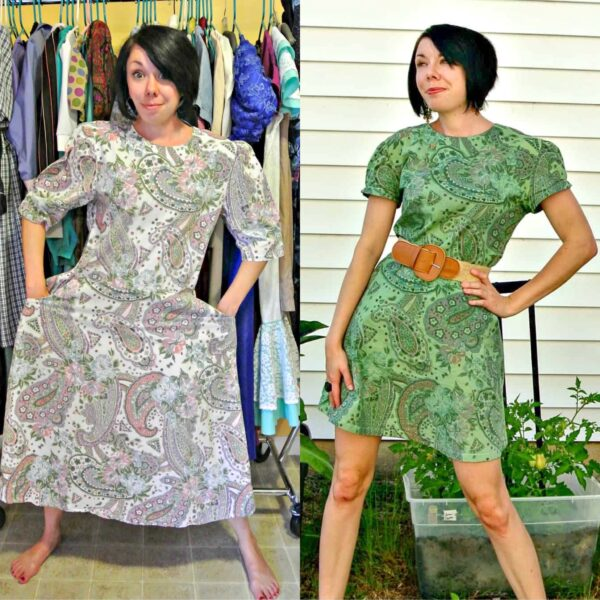 refashionista Basil Dress: Dyeing Over a Printed Fabric pin 3