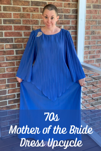 '70s Fortuny Style Mother of the Bride Dress Refashion Pin 2