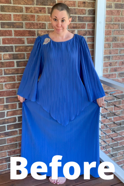 '70s Fortuny Style Mother of the Bride Dress Refashion Pin 8