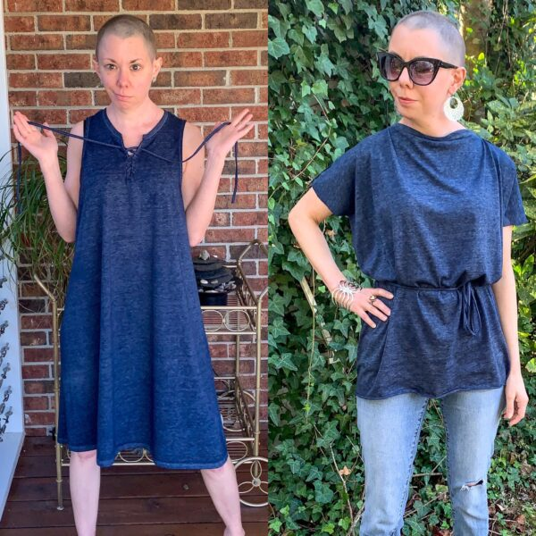 DIY Tunic Top from Sleeveless Jersey Midi Dress Pin 5