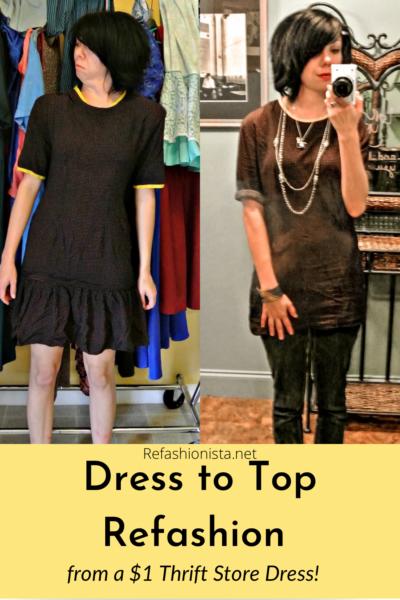 austin dress to top refashion pin 2