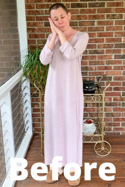 Going for Green: No-Sew Nightgown to Dress Refashion pin 1