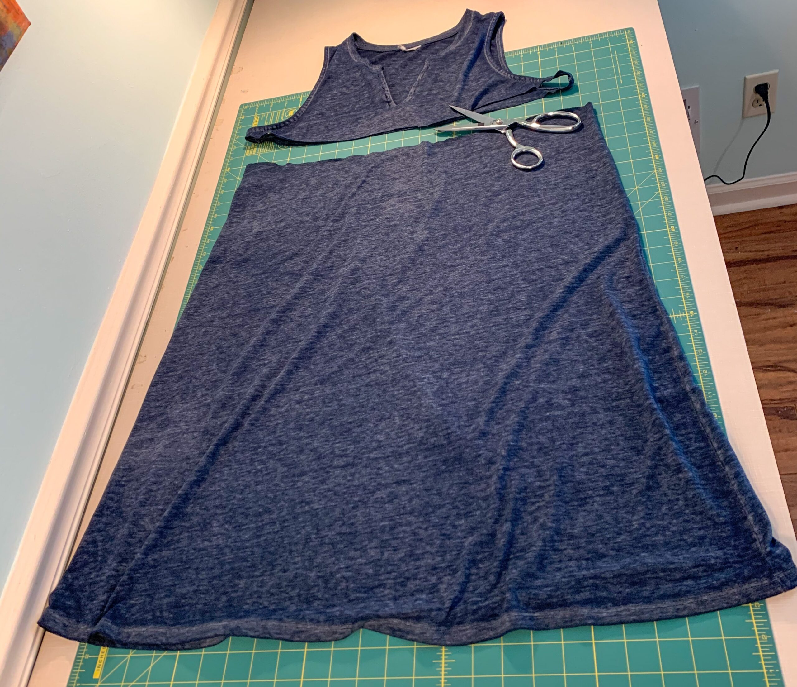 removed bottom of dress