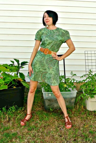 refashionista Basil Dress: Dyeing Over a Printed Fabric after