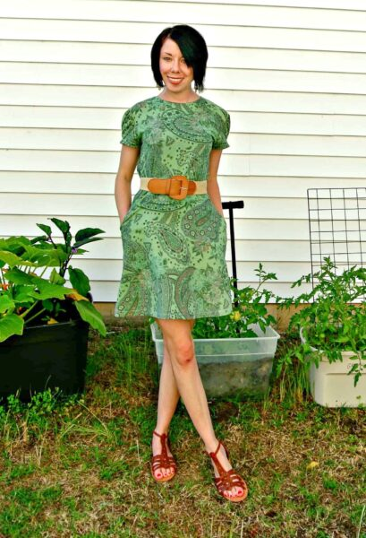 refashionista Basil Dress: Dyeing Over a Printed Fabric after 2