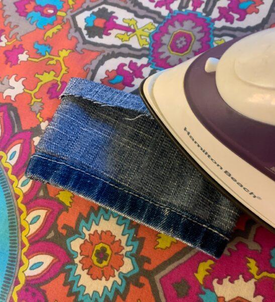 ironing raw edge over