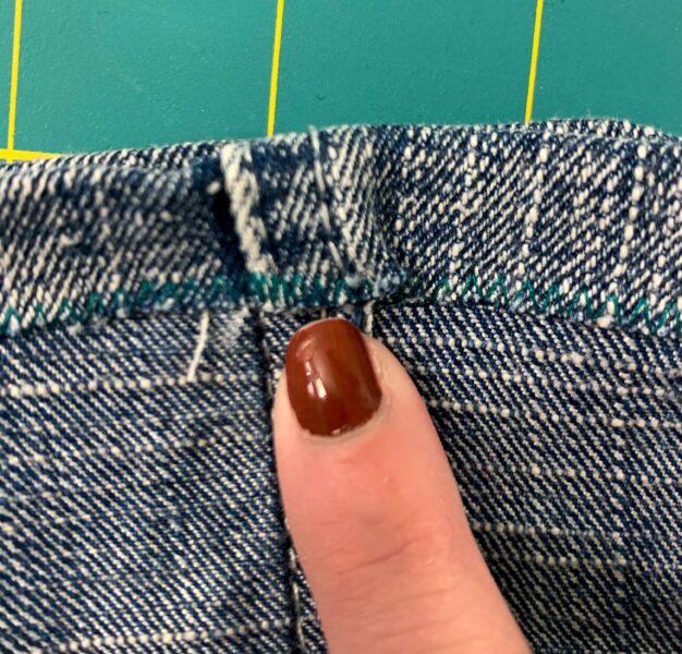 close up of zigzag stitch