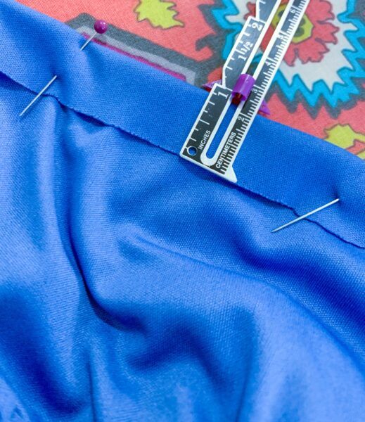 pinning top casing for dress