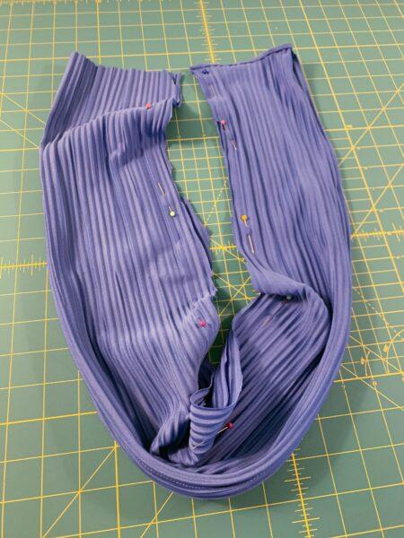 pinned fabric tube