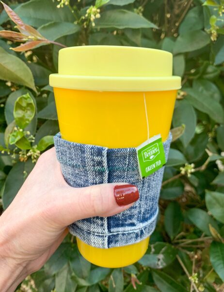 diy reusable coffee cup sleeve after