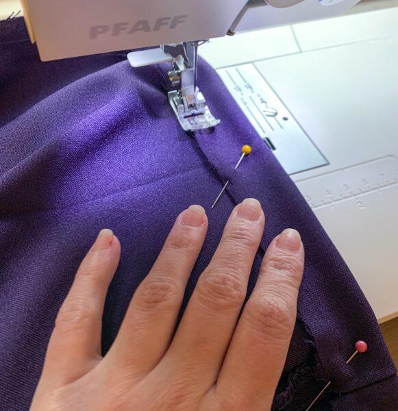 sewing waist of skirt