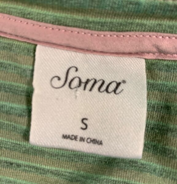 Soma garment label