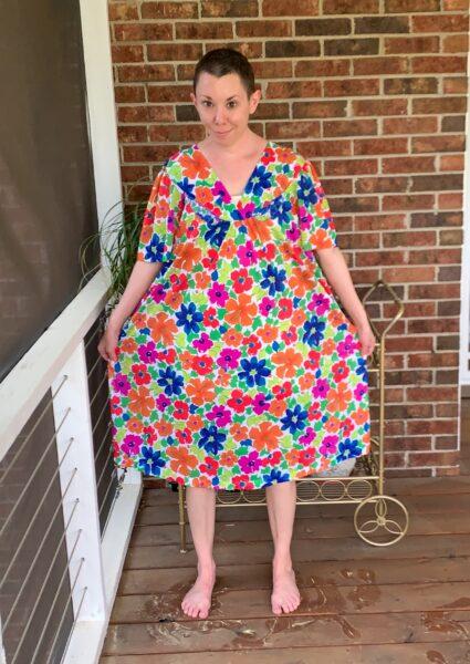 How to make a muumuu into a dress pin 1