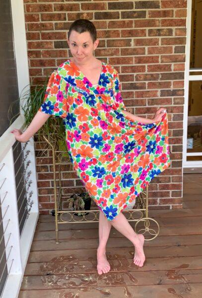 refashionista How to make a muumuu into a dress before 2