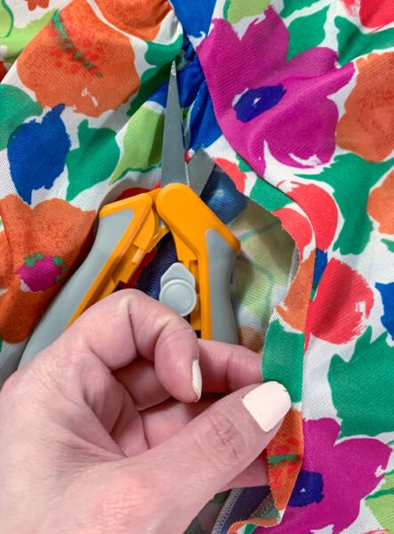 cutting sleeves off muumuu