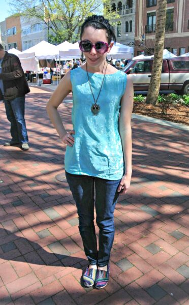 Unzipped: Nightgown to Zip Back Tank Top Refashion after