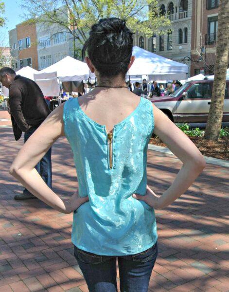 Unzipped: Nightgown to Zip Back Tank Top Refashion back
