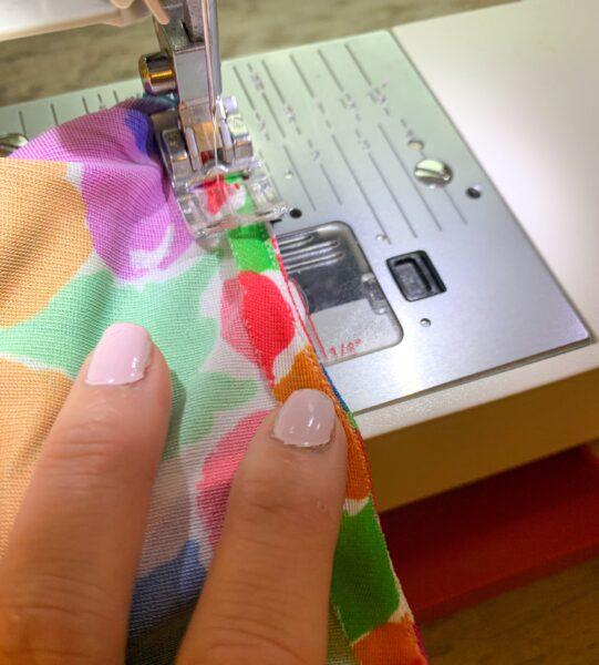 adding second layer of stitching