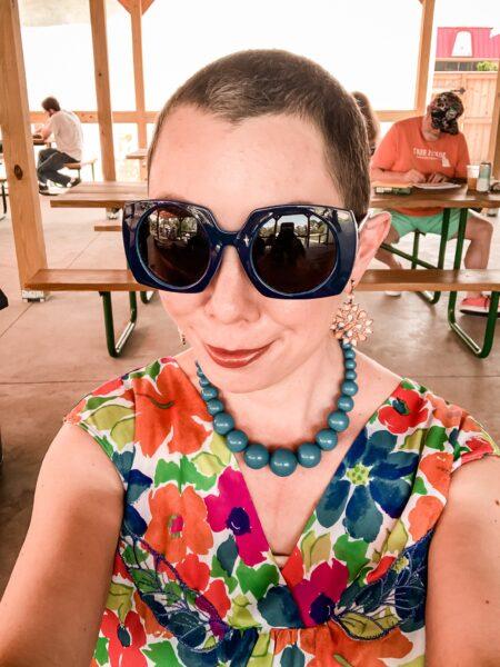 refashionista How to Make a Muumuu into a Dress selfie
