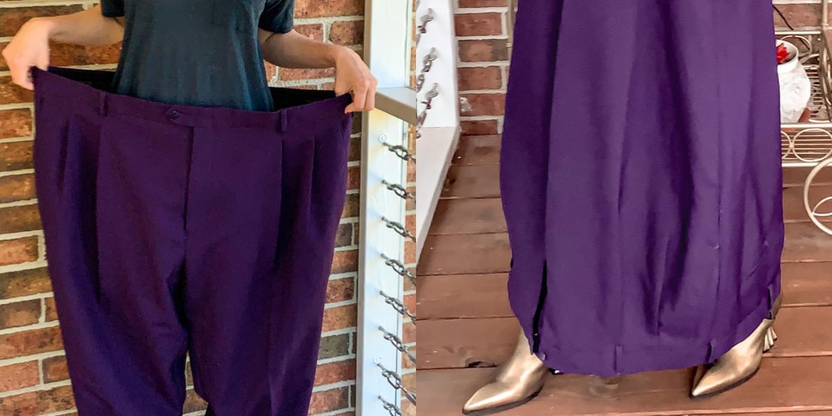 Men's Pants to Avant-Garde Skirt Refashion featured image