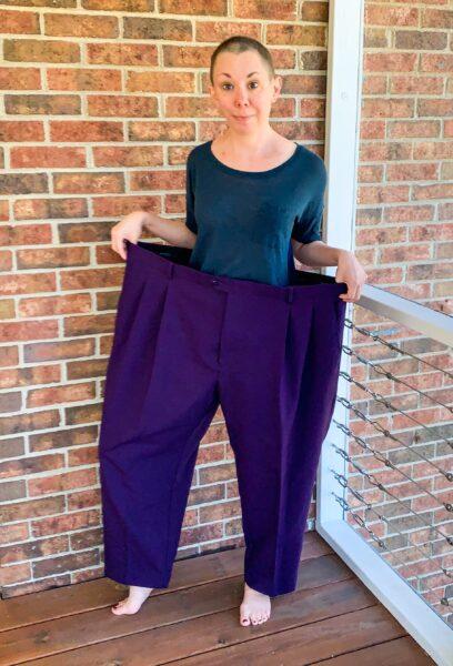 Men's Pants to Avant-Garde Skirt Refashion pin 8
