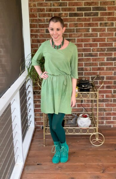 refashionista Going for Green: No-Sew Nightgown to Dress Refashion after 2