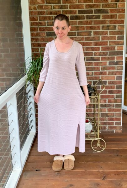 refashionista Going for Green: No-Sew Nightgown to Dress Refashion before 2