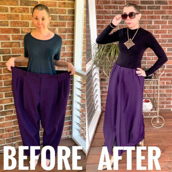 refashionista Men's Pants to Avant-Garde Skirt Refashion