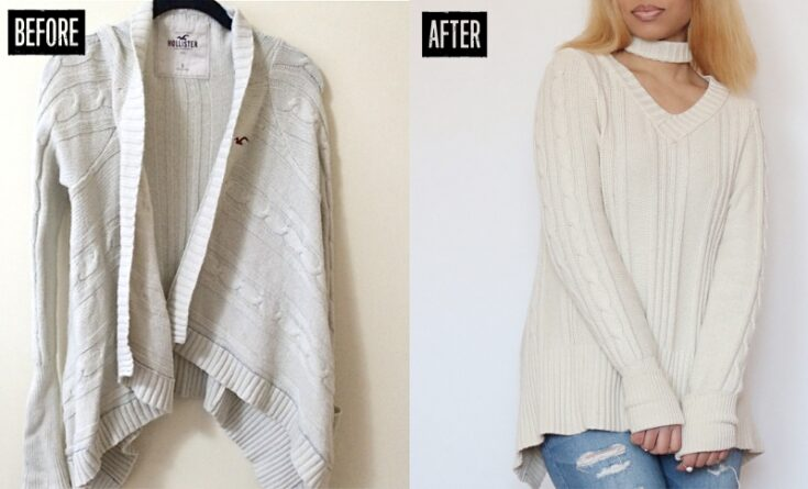 How to Refashion a Sweater: 24+ Sweater Refashion Tutorials 17