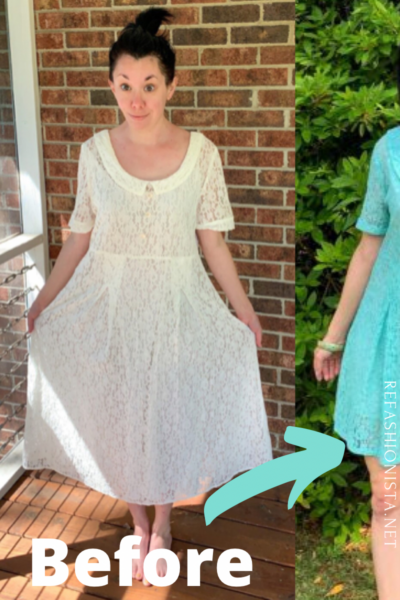How to Dye & Refashion a Lace Dress Pin 2