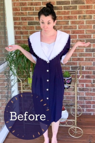 Refashioning a Collared Thrift Store Dress Pin 4