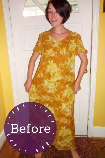 No-Sew Refashion: Elegant Twist & Cinch Dress Pin 3