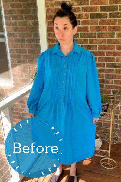 DIY Tiered Dress Refashion Pin 4