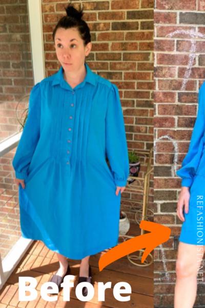 DIY Tiered Dress Refashion Pin 5