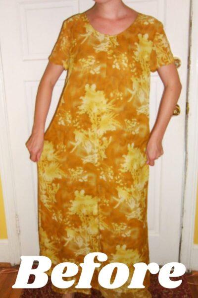 No-Sew Refashion: Elegant Twist & Cinch Dress Pin 4