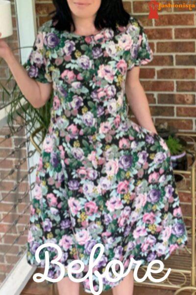 DIY Dress to Romper Refashion Pin 1