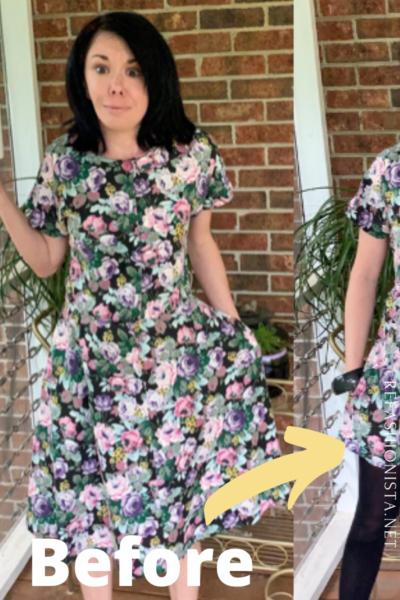 DIY Dress to Romper Refashion Pin 4