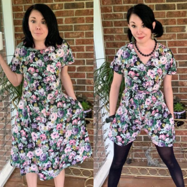 DIY Dress to Romper Refashion Pin 5