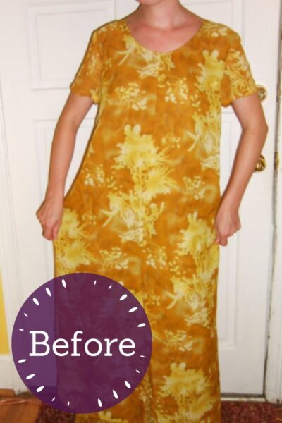 No-Sew Refashion: Elegant Twist & Cinch Dress Pin 2
