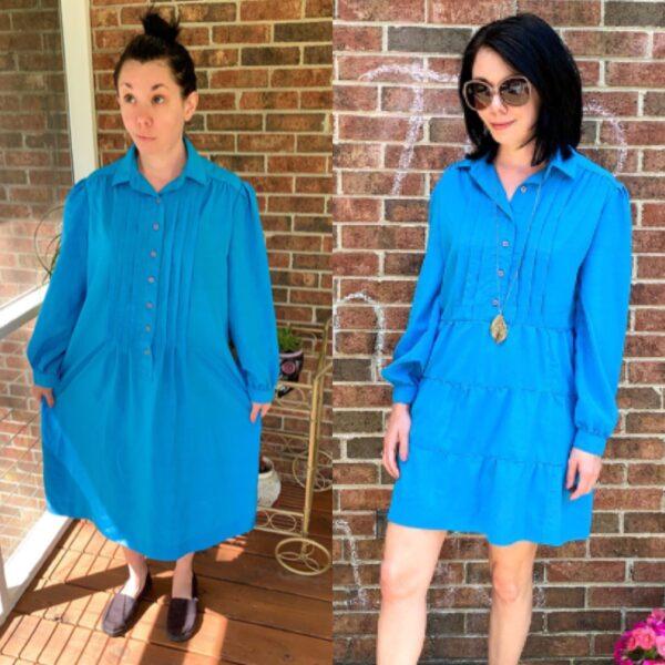 DIY Tiered Dress Refashion Pin 6
