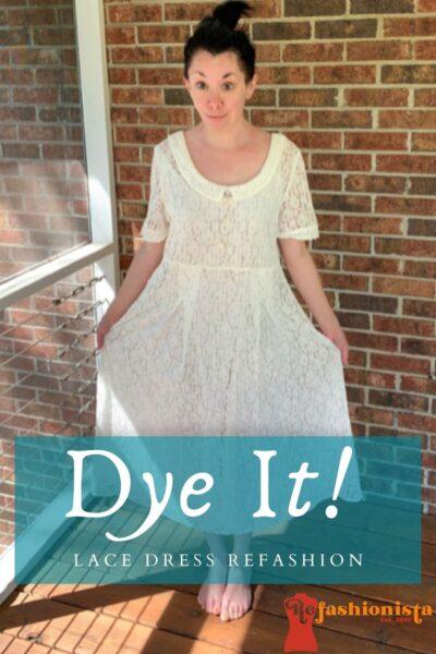 How to Dye & Refashion a Lace Dress Pin 1