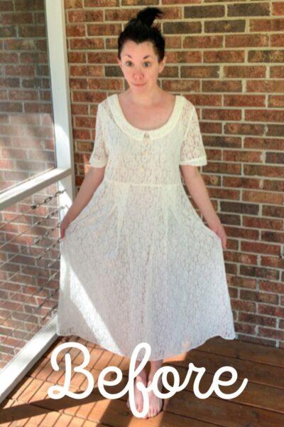 How to Dye & Refashion a Lace Dress Pin 3