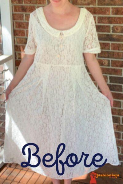 How to Dye & Refashion a Lace Dress Pin 4