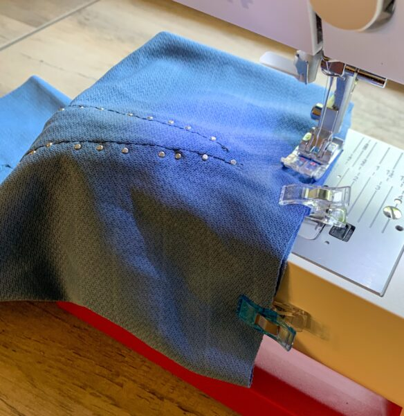 sewing off end of sleeve scrap