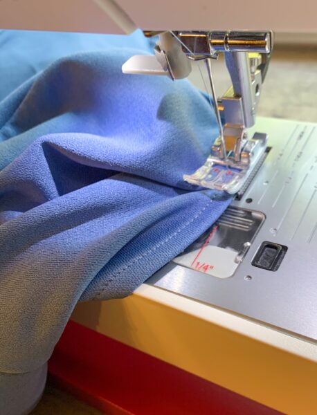 sewing fold in sleeve